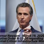 Essential Workers' List COVID 19 Workers' Comp – New Executive Order by Governor Newsom